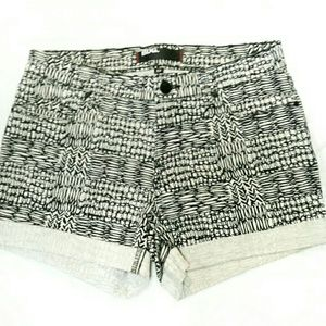 Cuffed Denim Shorts UO BDG Aztec Print 27